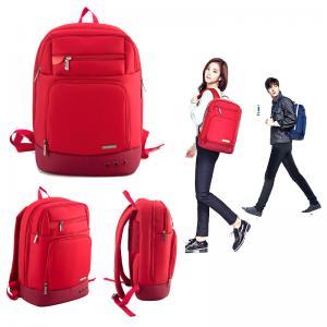 China 4 leaf cfover Nylon custom fashion men backpack with 14inch laptop sleeve computer travel bag teenager backpack on sale