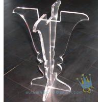 China CH (25) clear Acrylic hurricane lantern candle holder wholesale