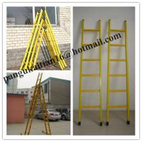 Quality Single step extension FRP ladder,Easy handing fiberglass foldable ladder for sale