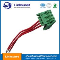 China Pich 5.0mm Custom Wiring Harness With Latch Green Terminal Block 3P - PTFE / ETFE wholesale