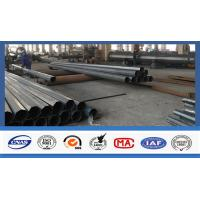China Electric Power Transmission Steel Utility Poles Custom Color For 3mm Thickness wholesale