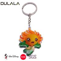China Stainless steel custom key chain with printing logo key ring for sale wholesale