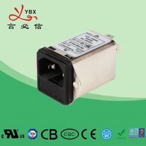 China Yanbixin 2A 50Hz 60Hz Inline EMI Filter , 120V 250VAC DC Power Line EMI Filter wholesale