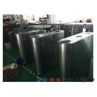 China Electric IR Sensor Flap Barrier Gate , Card Swipe Metro Access Control Turnstile wholesale