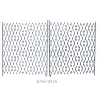 China Ventilated Steel Accordion Security Gate , Double Folding Security Gate 16*8 Feet wholesale