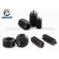 Quality Carbon Steel Black Stainless Steel Machine Screws DIN 915 , Metric Socket Head Cap Screw With Dog Point for sale