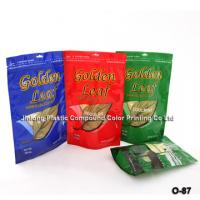 China Custom Design Standing / Stand Up Pouch Plastic Zipper Bags For Cigar Packaging on sale