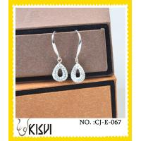 China 2012 charming crystal & rhinestone tear - shaped handcrafted crystal earings wholesale