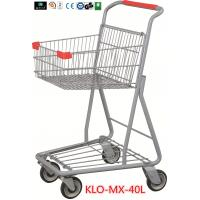China Chrome Plating Grocery Shopping Trolley 40L / Supermarket Shopping Carts wholesale