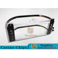China Arc Shape Poker Discard Holder / Playing Card Tray Holder With Chips Protection wholesale