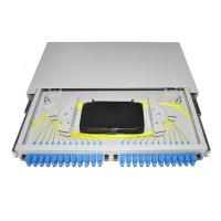 China 19'' rack mounted OTB ODB 12 24 port SC connector pigtail Fiber Optic Patch Panel wholesale