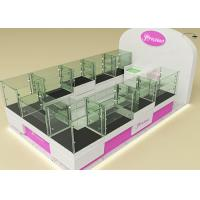 China Fully Lockable Wood Glass Jewelry Showcase Kiosk , Retail Commercial Display Cases wholesale