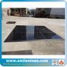 China Light weight black wooden dance flooring for garden wedding wholesale