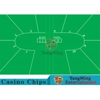 China Texas Holdem Standard Casino Table Layout Green With 100% Polyester Fabric wholesale