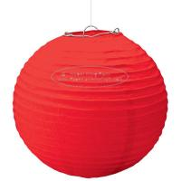 Solid Color Round Paper Lanterns For Party , Hanging Paper Lanterns Dia 10cm -20cm