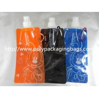 China Blue 0.16mm Nylon / LDPE Stand Up Pouch With Spout Eco-Friendly wholesale