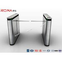 China Shopping Mall Drop Arm Turnstile Gate 304 Stainless Steel 2 RFID Readers Windows wholesale