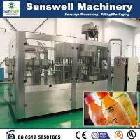 China Automatic Fresh Fruit Juice Hot Filling Machine For Washing Filling And Capping wholesale