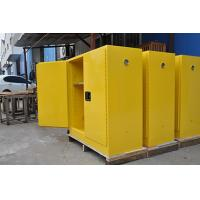 China Grounding Flammable Storage Cabinets With Double Shelf For Dangerous Goods wholesale