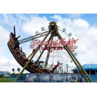 China Outdoor Thrilling Swinging Pirate Ship Ride , FRP Material Pirate Ship Attraction wholesale