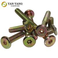 China Furniture Hardware flat  Round head furniture hexagon socket screws wholesale