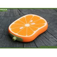 China Orange Shaped Cell Phone Power Bank , Iphone 5s / 6 / 6s Power Bank wholesale