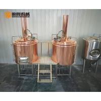 Quality 3HL Red Copper Beer Brewing Equipment With Electric Temperature Control for sale