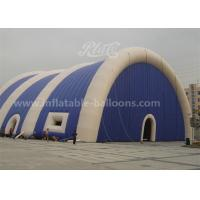 China PVC Huge Inflatable Air Tent 20M With Blowers , Bule And White Color wholesale