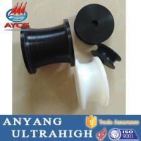 Quality 100% virgin uhmwpe plastic mc nylon pulley U V Grooved Pulley wheel for rope for sale