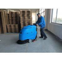 China Blue Color Battery Floor Scrubber / Full Automatic Floor Cleaning Equipment wholesale