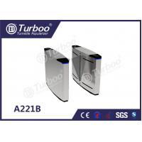 China Pedestrian Flap Turnstile Barrier Gate , Access Control Security Access Gates wholesale