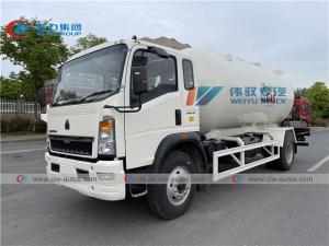 China HOWO 15000Liters LPG Dispenser Truck Mobile Bobtail Truck for Cylinder Refilling wholesale