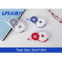 China Environmental Titanium Dioxide Correction Tape Roller / Paper Corrector on sale