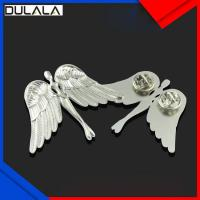 China Custom Top quality cheap 2D nickel palting Iron lapel pin without enamel color wholesale