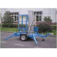 Quality 6 Meter Trailer Type Vertical Mast Lift Aerial Work Platform For Street Working for sale