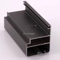 OEM Extruded Aluminum Profiles , Window Aluminum Profile Black Powder Coating