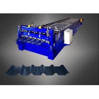 China PLC Touch Screen Metal Roofing Sheet Making Machine With Warranty 2 Years on sale