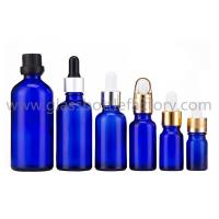 Buy cheap Cobalt Blue Essential Oil Glass Bottles With Droppers And Caps from wholesalers