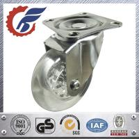China 3 inch furniture caster wheel swivel top plate transparent crystal clean wheel PU/PC wholesale