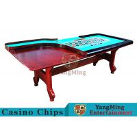 China Stable H - Shaped Legs Casino Poker Table With Three Anti - Static Tablecloths wholesale