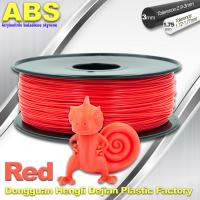 China ABS Custom 1kg / roll Fluorescent Red Filament Luminous 3D Printer Consumables wholesale