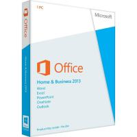 Quality Microsoft Office 2013 Software Retail Key Code , Microsoft Office Home And Business 2013 for sale