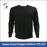China Custom Long Sleeve Security Guard Shirts / Duty Security Guard Sweater 55%Acrylic 45%Cotton wholesale