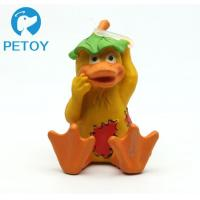 China Fashionable Funny Squeaky Rubber Duck Dog Toy Customized Color Unique Design wholesale