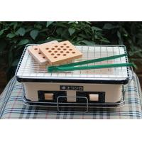 China Table Top Japanese Mini Ceramic Grill , Rectangle Outdoor Charcoal BBQ Grill wholesale