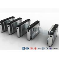 China Waist High Turnstile Security Systems , Biological Recognition Flap Barrier Gate wholesale