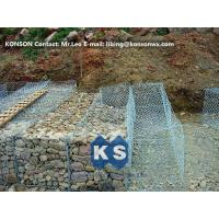 China Hexagonal Wire Mesh Double Twisted Gabion Wall Baskets With ASTM A975-97 Standard wholesale