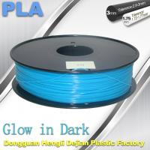 Glow In The Dark Filament For 3D Printer PLA Filament 1.75mm / 3.0mm