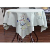 China Multiple Colors Dining Table Cloth , Chemical Fiber Embroidery Table Cloth wholesale