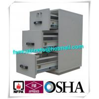 China Steel 3 Drawer Fireproof Locking File Cabinet For Paper Documents wholesale